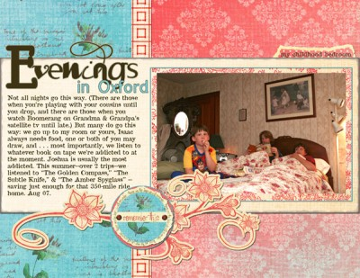"""An everyday life scrapbook page that conveys the sense of """"how it is"""" by showing one moment."""