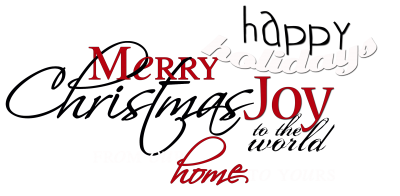 Christmas Word Art for your holiday projects by Paula Gilarde