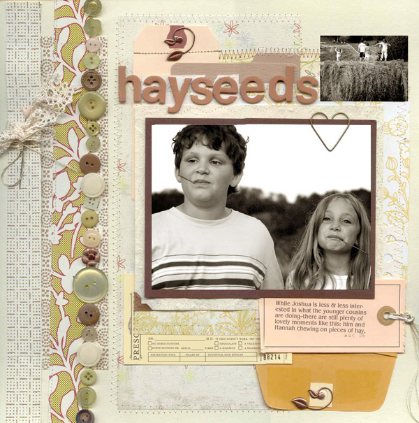 Scrapbook Ideas for Combining Embellishments on The Page | Debbie Hodge | Get It Scrapped