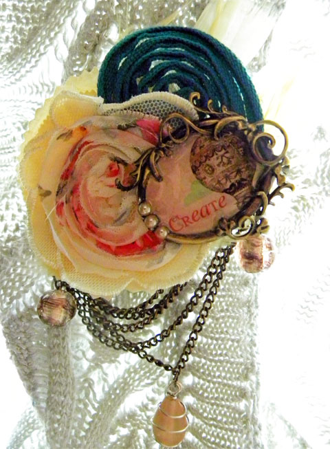Make a Vintage-Style Brooch: One Little Word–MacGyver Style!