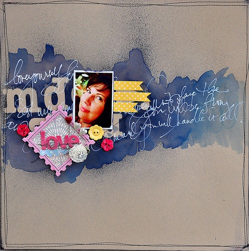 Six Ways To Start a Scrapbook Page with Paint or Ink