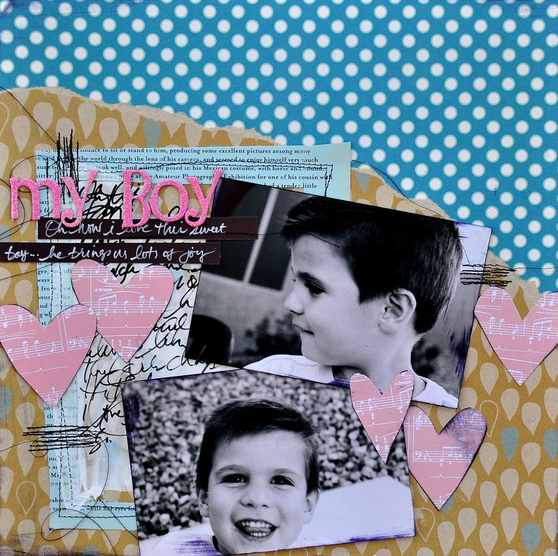 Real men have pink scrapbook pages | Ideas for scrapbooking boys with pink