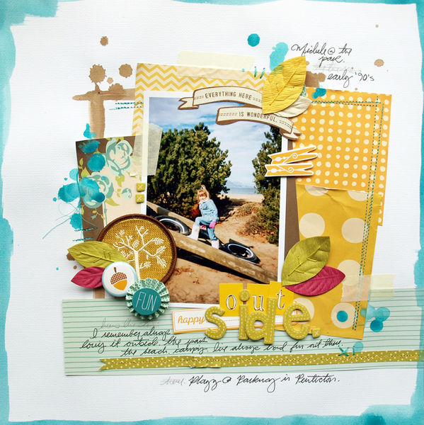 Texture and Dimension on Scrapbook Pages