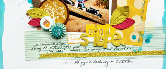 Video Blog | 3 Journaling Treatments That Add Texture and Dimension to Your Scrapbook Page