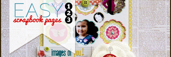 How To Make Easy Scrapbook Pages: Use leftover chipboard packaging for a quick page foundation