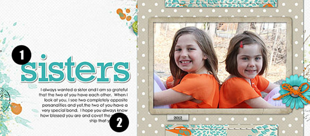 Study Digital Scrapbooking Pages for Ideas and How-tos   Title, Text, and Shapes