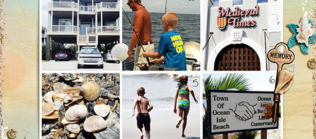 Ideas for Scrapbook Pages with 6 Photos