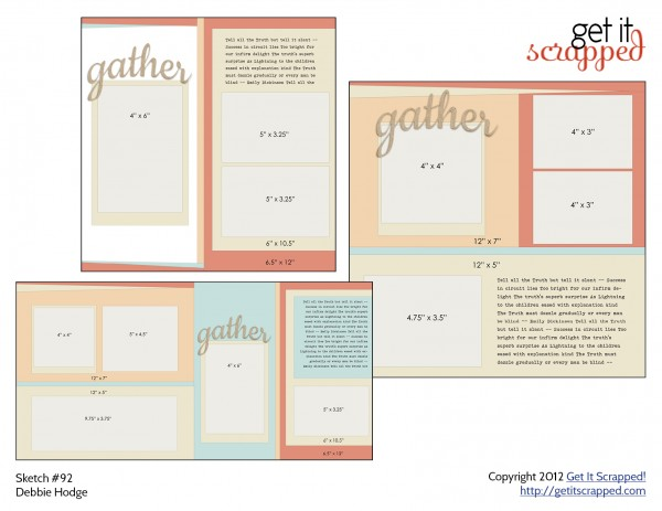 free layered template for 2-page scrapbook layout