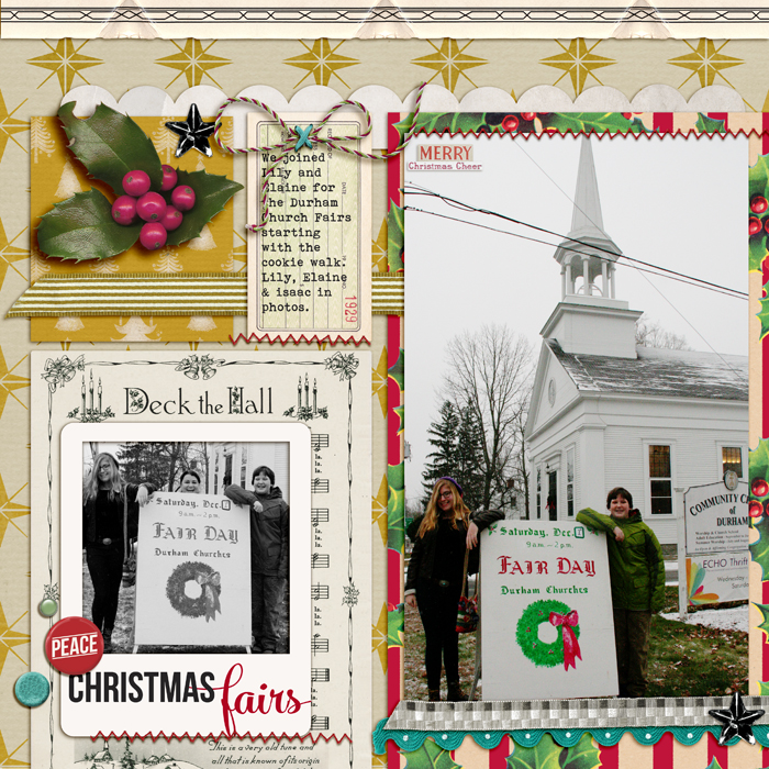 Christmas Fairs by Debbie Hodge | Supplies: Winter Bitten by Creative Victorian Legacy; Wrap Start by Forever Joy and One Little Bird; Elemental Frames by Gennifer Bursett; You Were Here by Allison Pennington; Vintage Bling, Vintage Christmas by Jenni Bowlin Studio; Trim The Tree Ephemera by Sahlin Studio; Cliff Notes Warm & Fuzzy Edition by ALlison Pennington; Hipster Holiday by mommyish; Bebas Neue, Mercury Script fonts