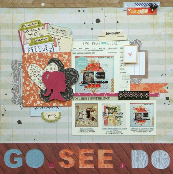 Go.See.Do. by Ashley Horton | Supplies:  Patterned Paper:  Amy Tangerine & Pink Paislee; Bits & Envelope:  Amy Tangerine; Spray Mist:  Studio Calcio; Font:  Arial Black; Washi Tape:  Love My Tapes; Stickers:  October Afternoon; Other:  Staples