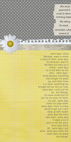 My Words by Tara McKernin | Supplies: ChrissyW's kit Write On