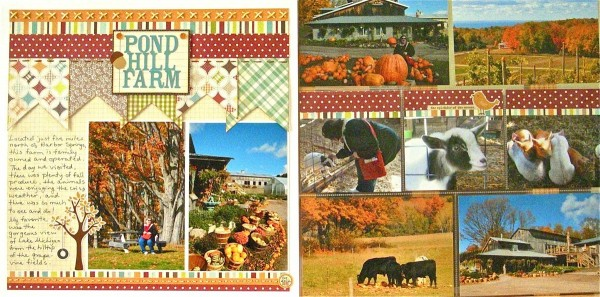 Pond Hill Farm by Sue Althouse | Supplies: Cardstock: Bazzill; Patterned Paper: Simple Stories, Lily Bee; Alphabets, Stickers: Simple Stories; Inks: Tim Holtz; Floss/Twine: My Mind's Eye, We R Memory Keepers; Twinkle Goosebumps: Queen & Co.