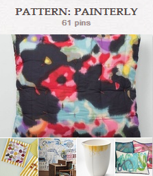 Check out painterly fashions and home decor on one of our Pinterest boards.