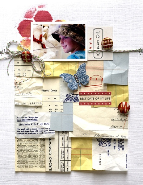 "Scrapbook Page by Amanda Jones Pinned to Kelli Crowe's ""Things I want to make"