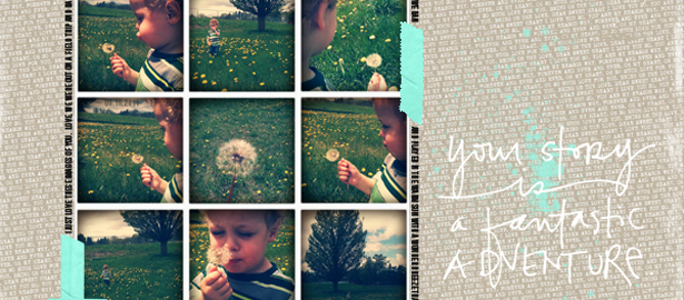 Ideas for Scrapbook Pages with 9 photos