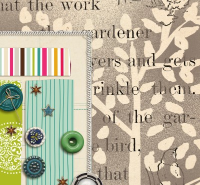 crafting with book pages on scrapbook layouts