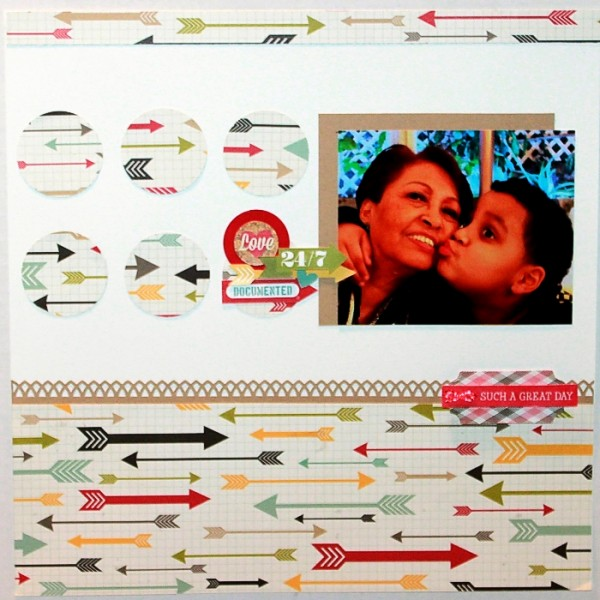 Love 24/7 by Rosann Santos-Elliott | Supplies: 24/7 Good Stuff: Simple StoriesFundamentals Card; Stock Stickers: Simple Stories; Collectable Layered Stickers: My Mind's Eye