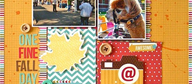 Sue Althouse Uses Bold Colors and Patterns on Scrapbook Layouts | Motivated to Scrapbook Series
