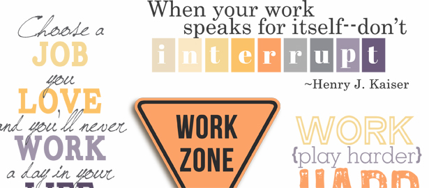 Work Quotes and Word Art for Your Scrapbook Layouts