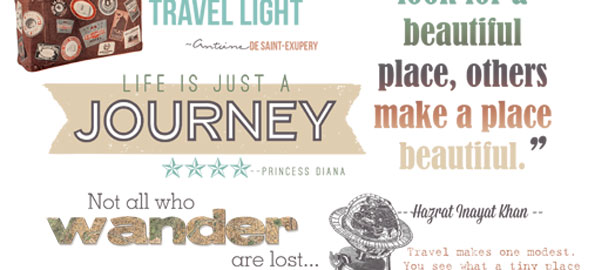 Travel Quotes and Word Art for Your Scrapbook Layouts