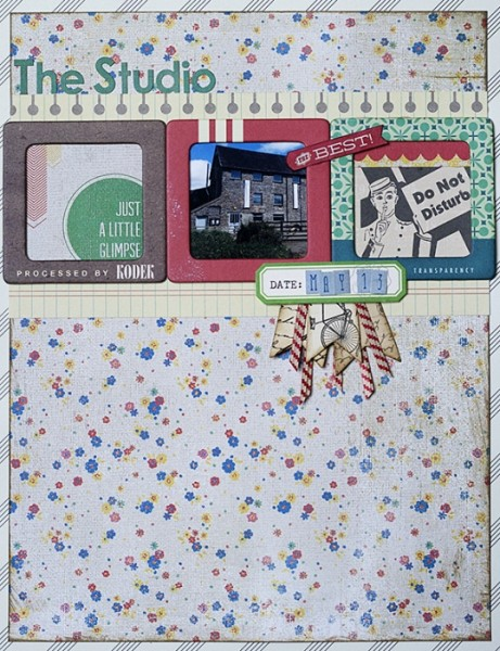 The Studio by Amanda Robinson | Supplies:  Kit - JBS Mercantile; Patterned Paper - Jillibean Soup, Basic Grey; Die-cuts - October Afetrnoon, Basic Grey; Stickers - Basic Grey; Chipboard Frames - Crate Paper.
