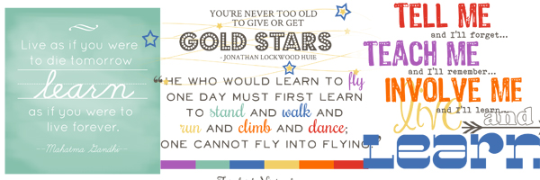 Learning Quotes and Word Art for Your Scrapbook Layouts