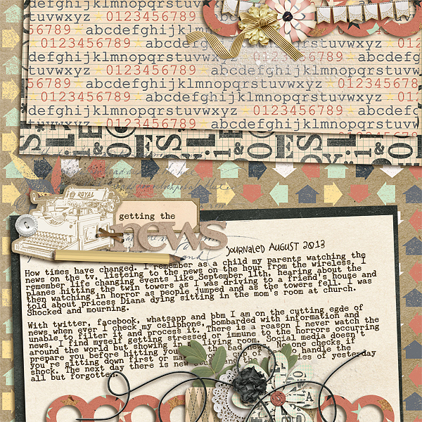 Ideas for Scrapbook Page Storytelling with Retro Tech Motifs | Stefanie Semple | Get It Scrapped