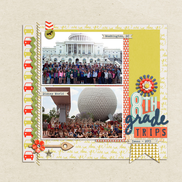 Start Your Scrapbook Layout with a Block Foundation | Debbie Hodge Get It Scrapped