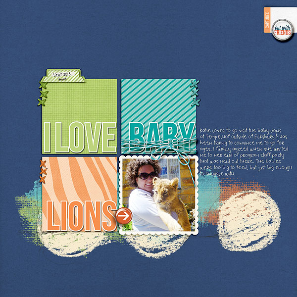 Scrapbook Embellishments Idea | Tone-On-Tone Color-Blocked Grids | Heather Awsumb | Get It Scrapped