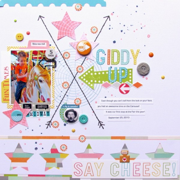 Using Scrapbooking Ideas | Inspired by the Crossed or X Logo Design | Ashley Horton | Get It Scrapped