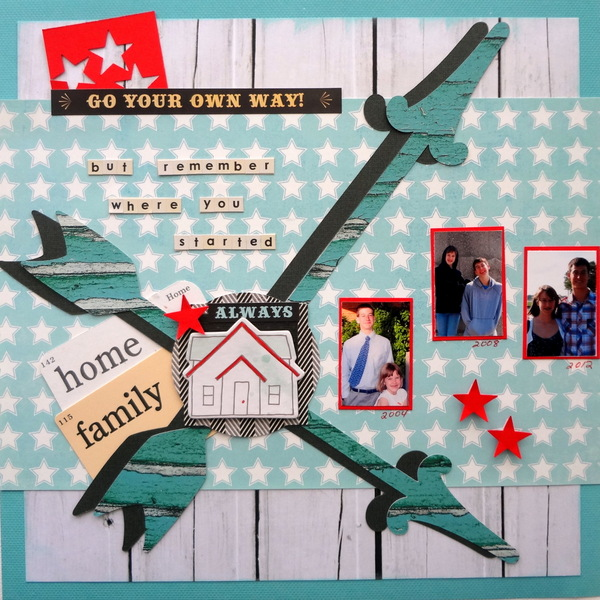 Using Scrapbooking Ideas | Inspired by the Crossed or X Logo Design |Susanne Brauer | Get It Scrapped