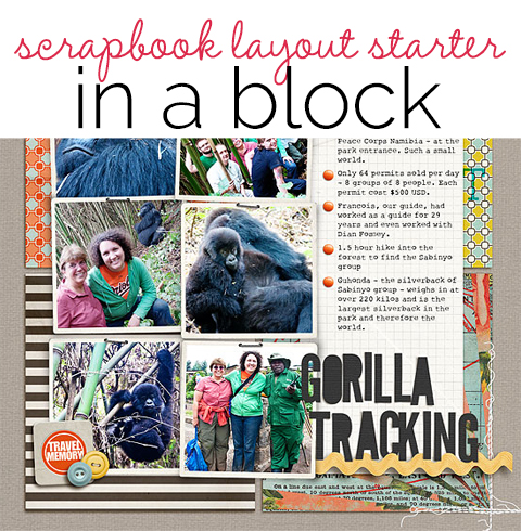 Start Your Scrapbook Layout with a Block Foundation