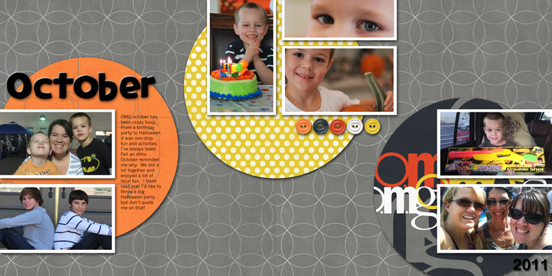 Prompts, Sketches and Templates for Scrapbooking the Month of October