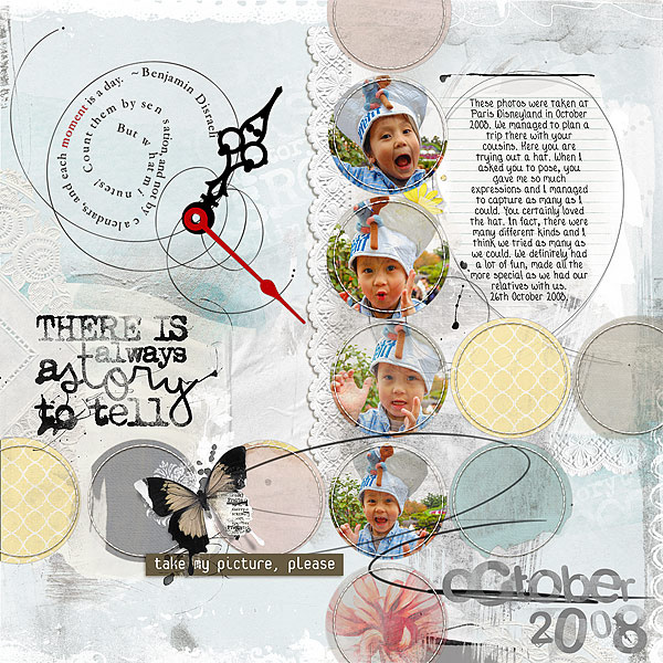 8 Ideas for Scrapbook Layout Design with Circles | Audrey Tan | Get It Scrapped