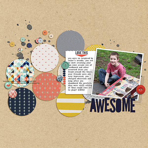 8 Ideas for Scrapbook Layout Design with Circles | Celeste Smith | Get It Scrapped