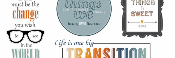 CHANGE Quotes and Word Art for your Scrapbook Pages