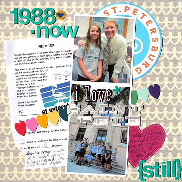 Scrapbooking Ideas for Personalizing Layouts about the Places You Love   Katie Scott   Get It Scrapped