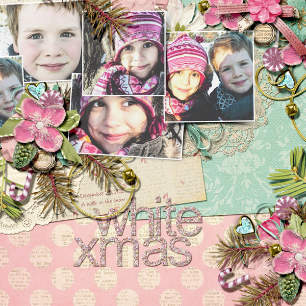 Scrapbooking Ideas for a Pastel Christmas Color Scheme | Anja de Dobbelaere | Get It Scrapped