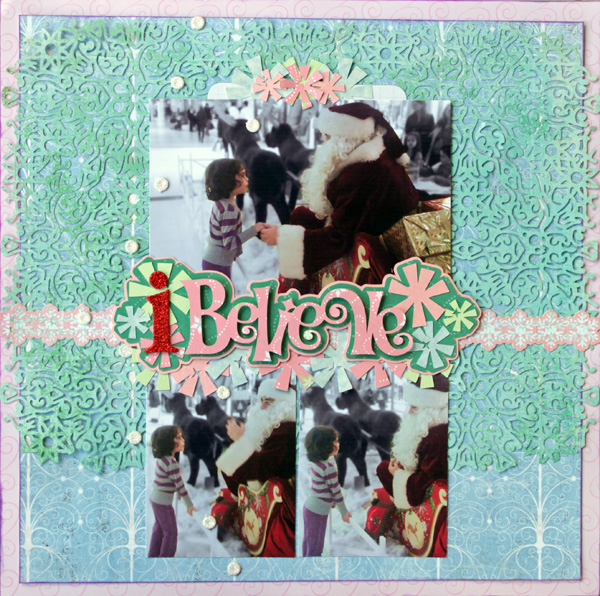 Scrapbooking Ideas for a Pastel Christmas Color Scheme | Kiki Kougioumtzi | Get It Scrapped