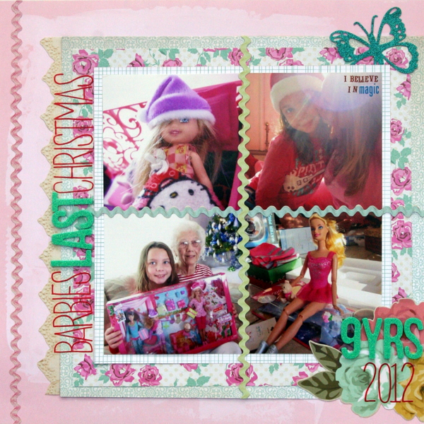 Scrapbooking Ideas for a Pastel Christmas Color Scheme | Katie Scott | Get It Scrapped