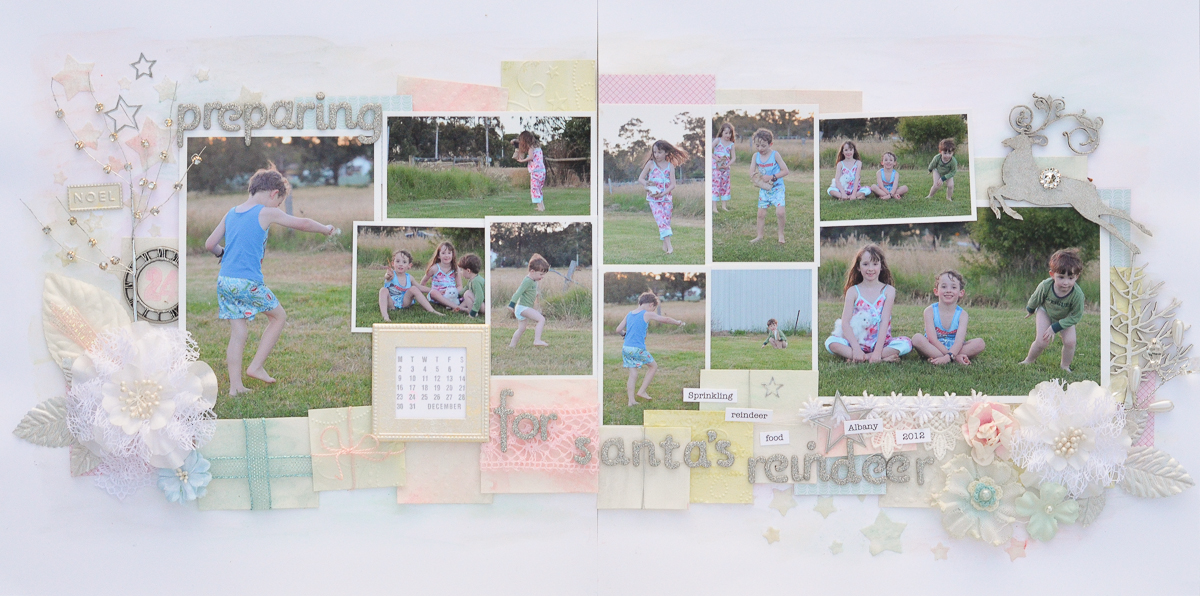 Scrapbooking Ideas for a Pastel Christmas Color Scheme | Kristy T | Get It Scrapped