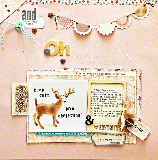 Scrapbooking Ideas for a Pastel Christmas Color Scheme | Sian Fair | Get It Scrapped