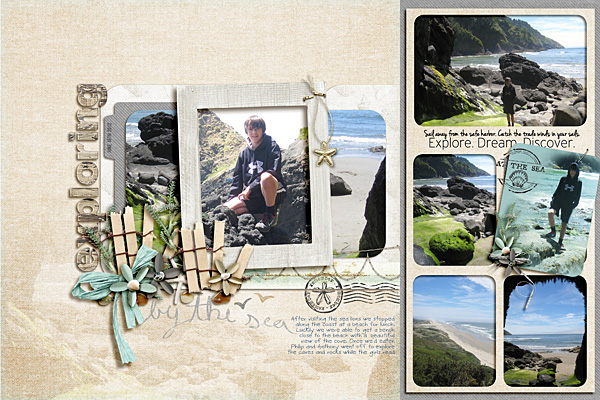 Exploring by the Sea by Ronnie Crowley | Supplies: Crystal Livesay - Spring Fling Template; Creashens – Newport; Simply Tiffany Studio Window Systems Templates - set 4