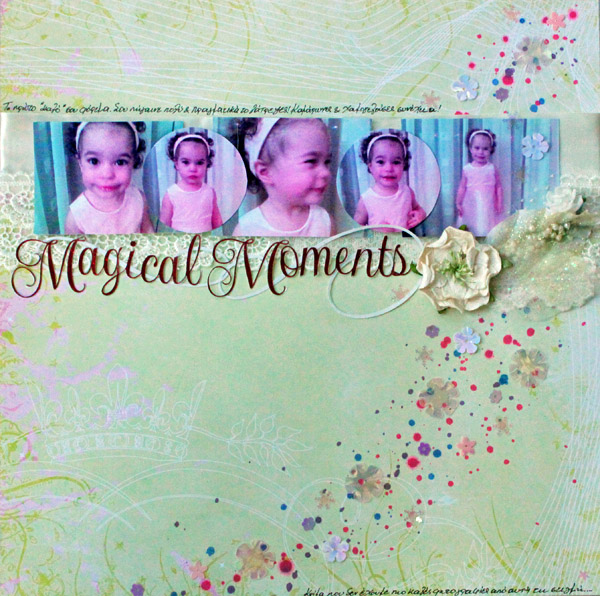 Ideas for Embellishing Scrapbook Pages with a Sprinkling or Trail | Kiki Kougiomtzi | Get It Scrapped