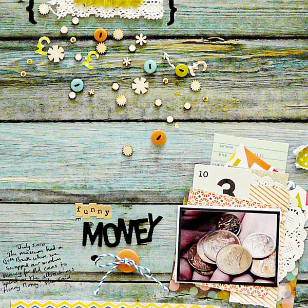 Ideas for Embellishing Scrapbook Pages with a Sprinkling or Trail | Sian Fair | Get It Scrapped