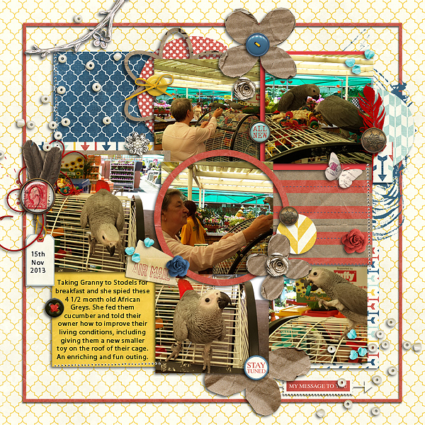 Ideas for Embellishing Scrapbook Pages with a Sprinkling or Trail | Stefanie Semple | Get It Scrapped