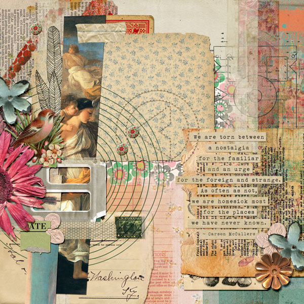 Scrapbooking Ideas For Collaged Storytelling | Anja de Dobbelaere | Get It Scrapped