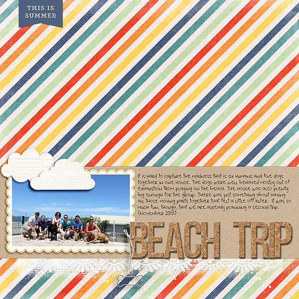 Scrapbooking Ideas for Using Striped Patterned Paper  to Evoke a Mood | Heather Awsumb | Get It Scrapped