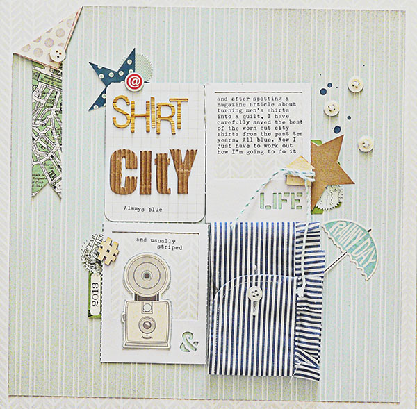 Scrapbooking Ideas for Using Striped Patterned Paper  to Evoke a Mood | Sian Fair | Get It Scrapped