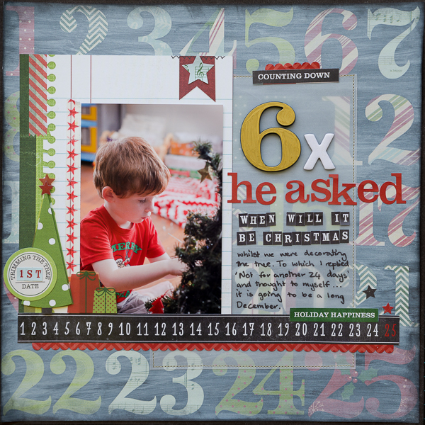 Scrapbooking Ideas for Telling A Story with Numbers | Kristy T | Get It Scrapped
